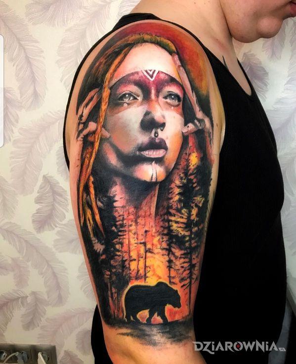 Tatuaż kontynuacja rękawa - 3D