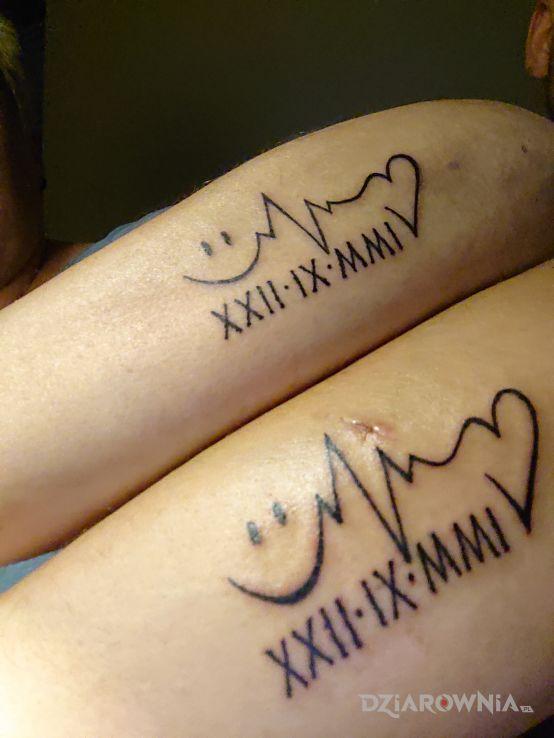 Tatuaż mój i mej miłości - czarno-szare
