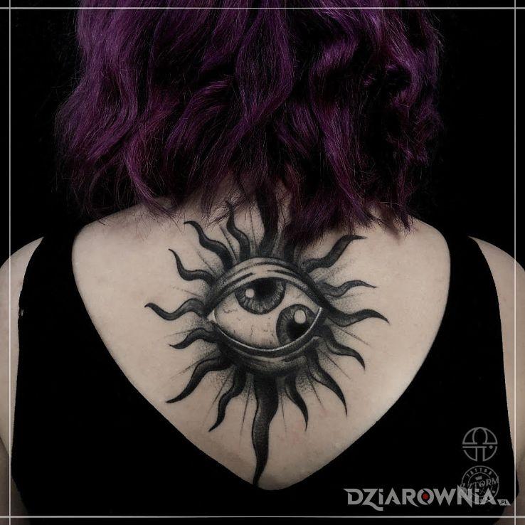 Tatuaż w co patrzysz - czarno-szare
