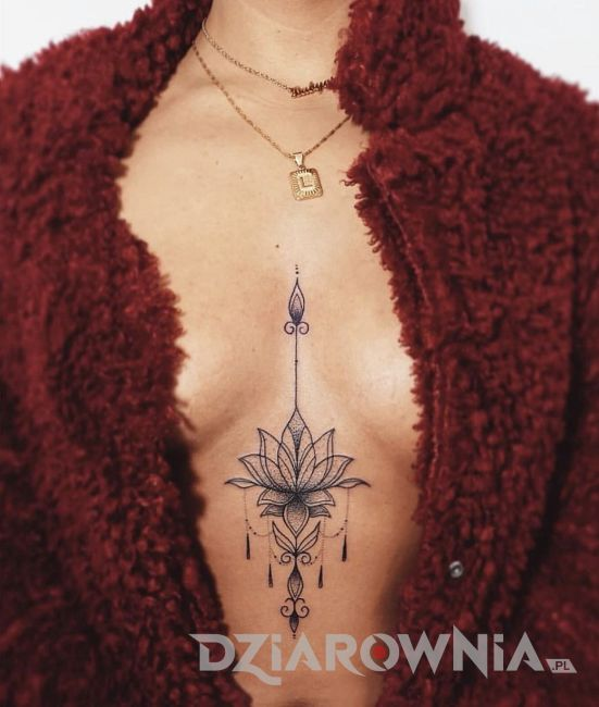 tatuaż lotos