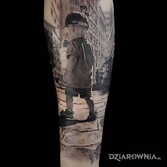 Tatuaż chłopaczek - 3D
