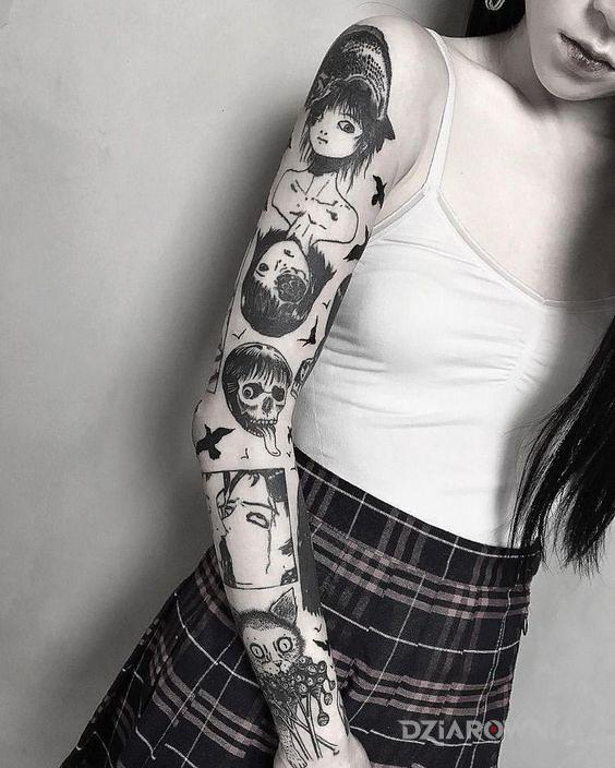 Tatuaż nietuzinkowy rekaw - rękawy