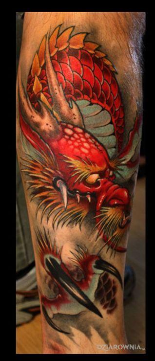 Tatuaż smok - kolorowe
