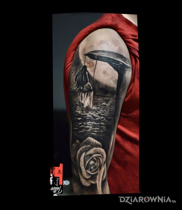 Tatuaż ciąg dalszy rękawa - rękawy