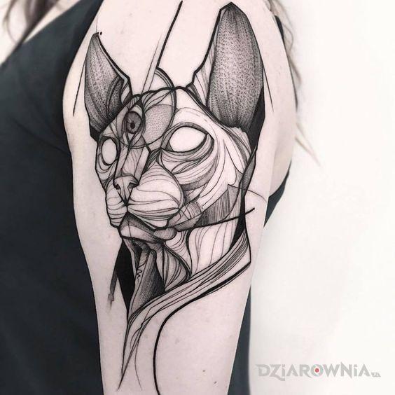Tatuaż lajnwork - zwierzęta