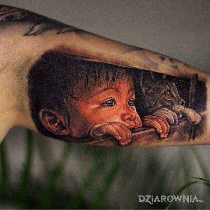 Tatuaż tacy sami - kolorowe