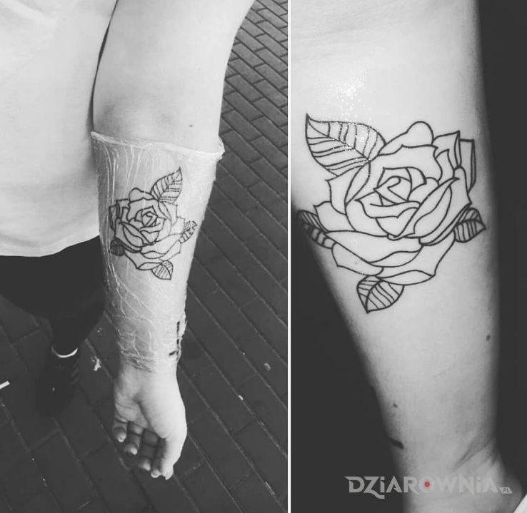 Tatuaż druga róża - kwiaty