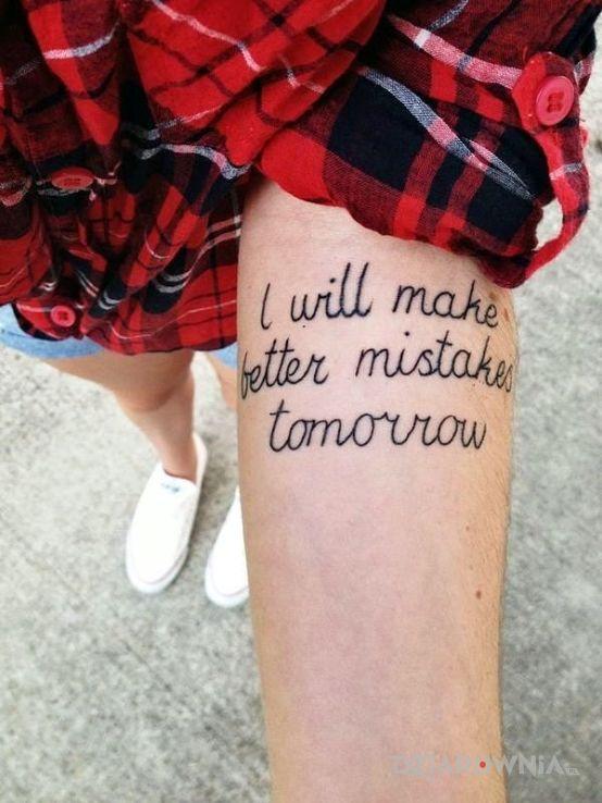 Tatuaż pomyłka - napisy