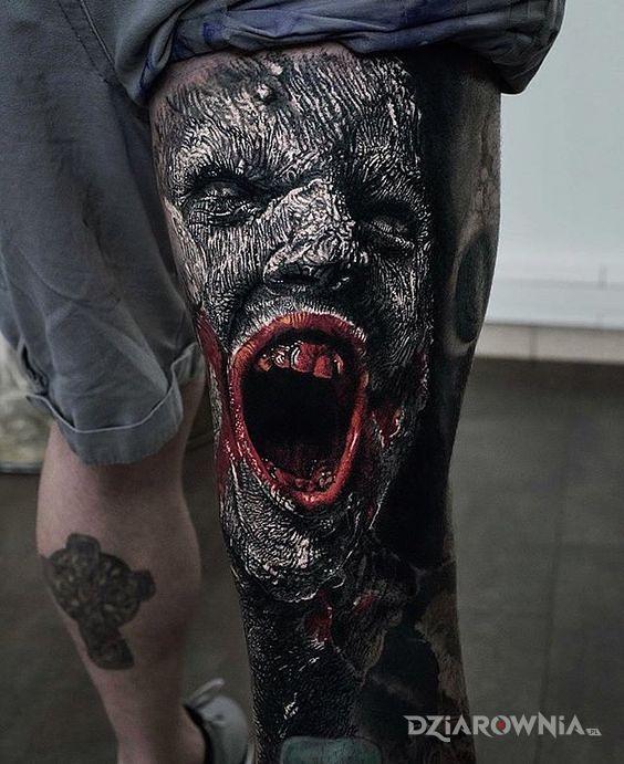 Tatuaż krzyk rozpaczy - 3D