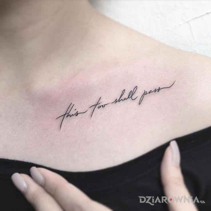 Tatuaż to minie - napisy