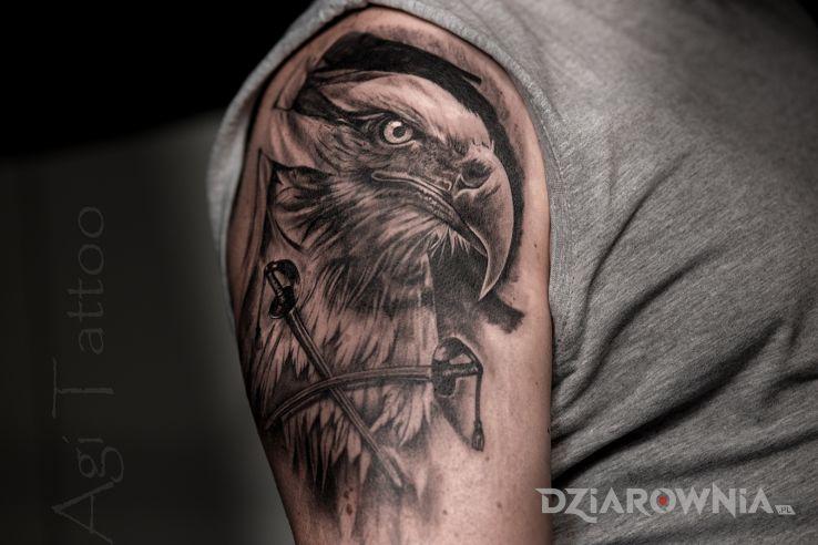 Tatuaż orzeł patriotyczny - patriotyczne