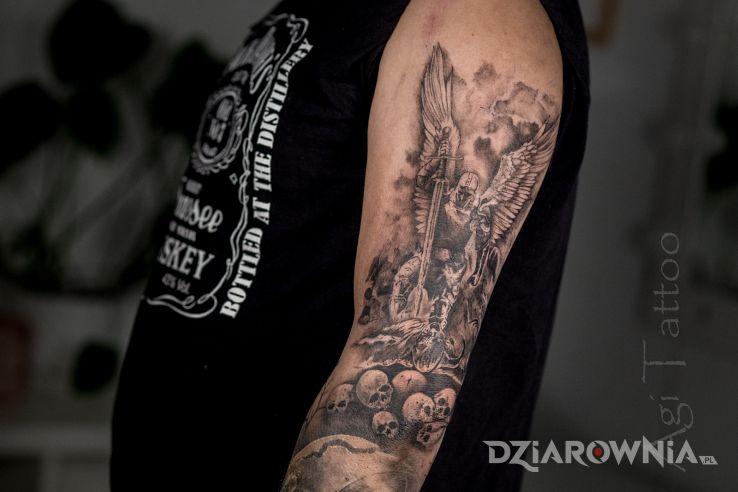 Tatuaż rycerz śmierci - religijne