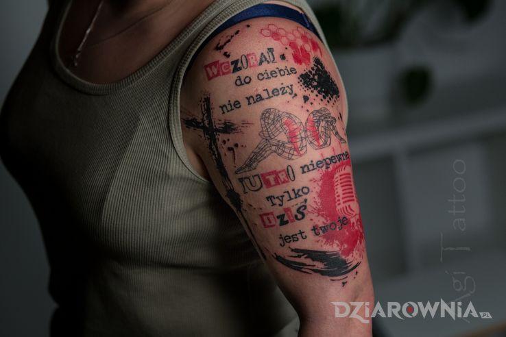 Tatuaż trash polka damski - pozostałe