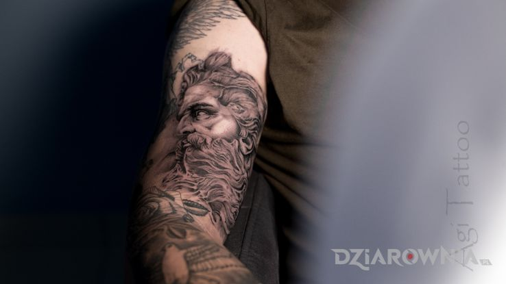 Tatuaż posejdon poseidon - religijne
