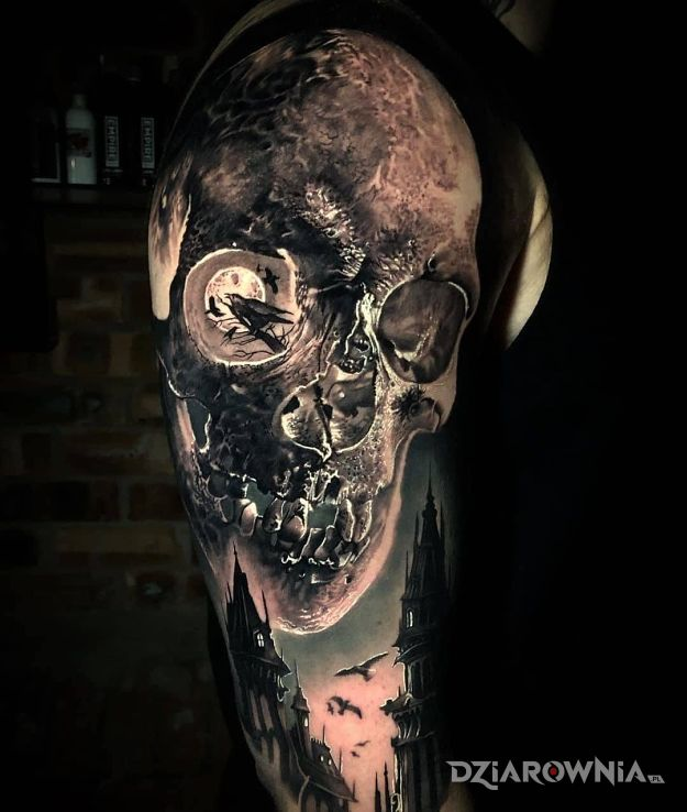 Tatuaż co ci do oka wpadło d - czarno-szare