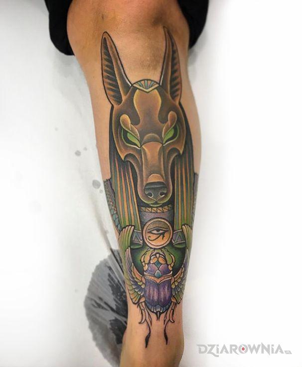 Tatuaż anubis od doktora janko - zwierzęta