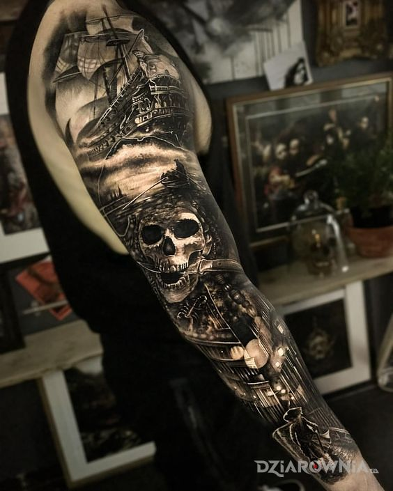 Tatuaż rękaw z prawdziwego zdarzenia - 3D