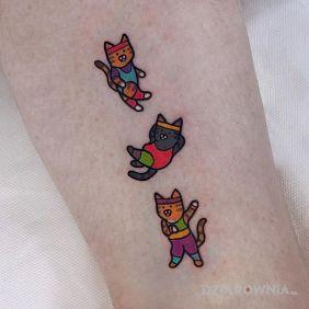 Areobik kociaków :D