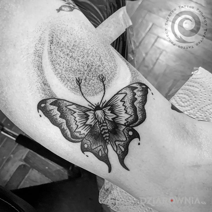 Tatuaż ćma - zwierzęta