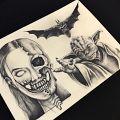 Pierwsze kroki jako tatuażysta - Pierwsze tatuaże na sztucznej skórze