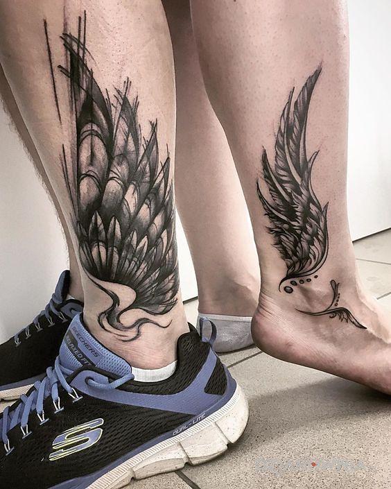 Tatuaż skrzydła - miłosne