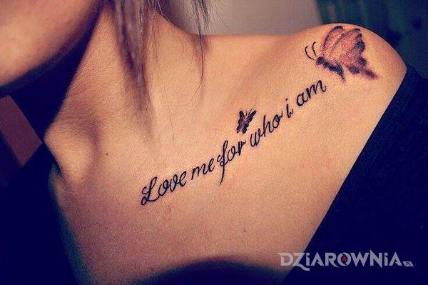 Tatuaż Love Me For Who I Am Autor Sentinel Dziarowniapl