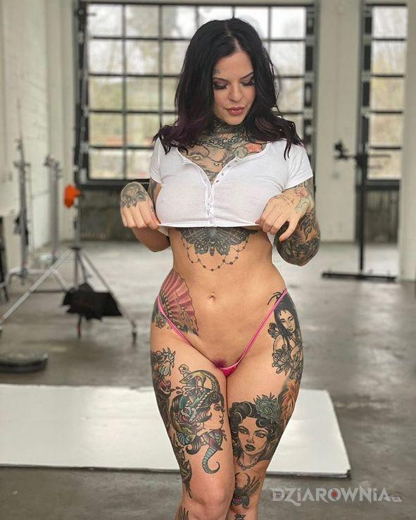 Tatuaż na silce - twarze