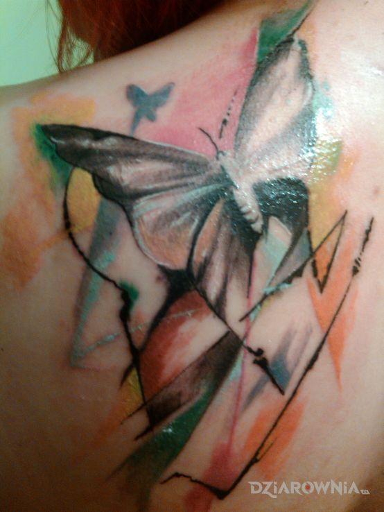 Tatuaż Motyl Autor Red Lips Dziarowniapl