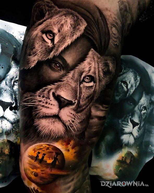 Tatuaż lwica - 3D