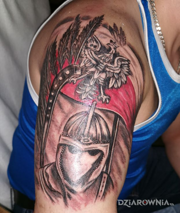 Tatuaż husaria - patriotyczne