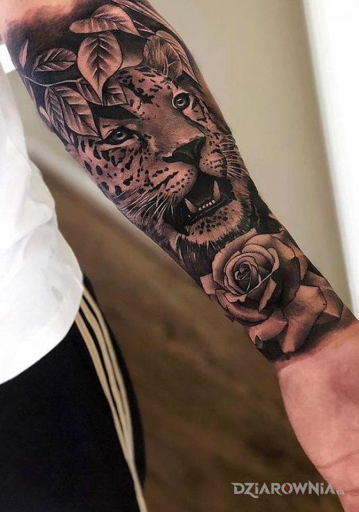 Tatuaż lampart - 3D