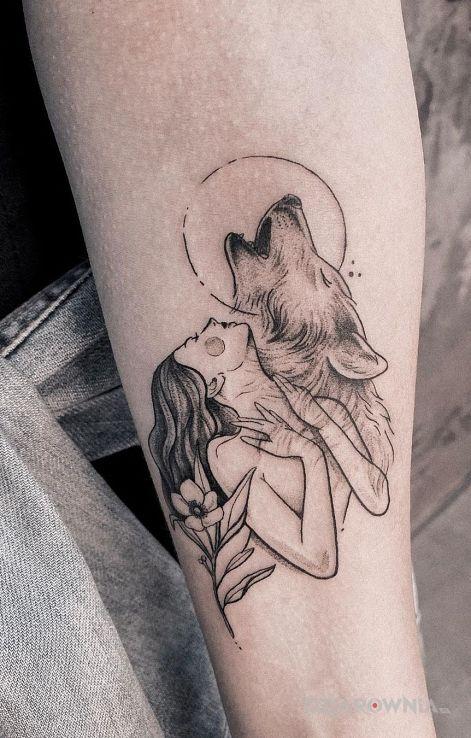 Tatuaż natura wilka - zwierzęta