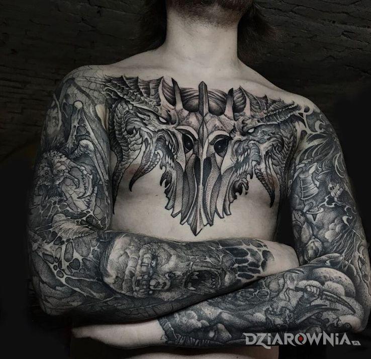 Tatuaż demoniczne plugastwa - demony