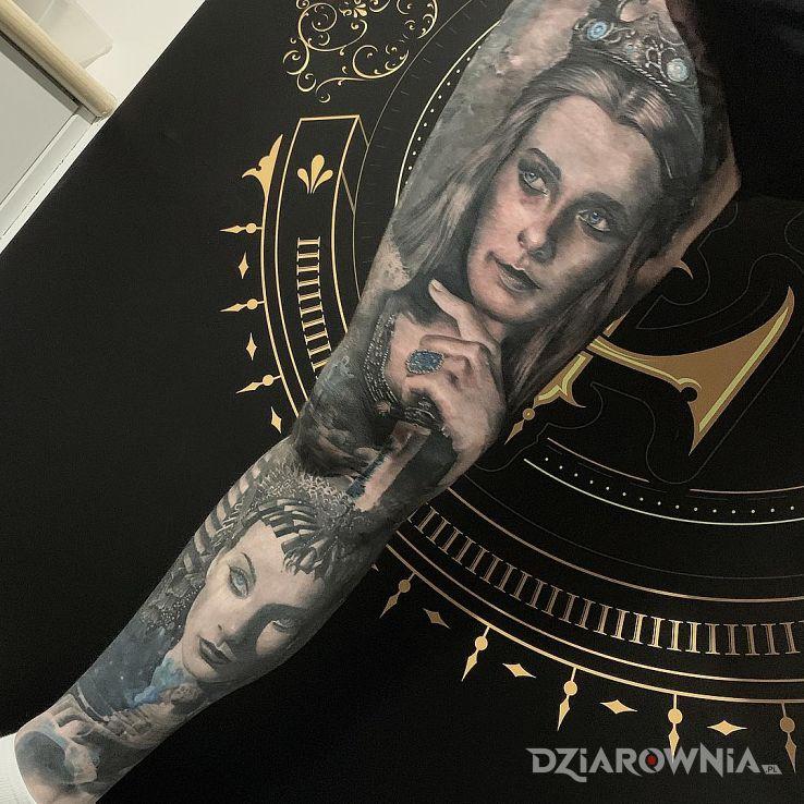 Tatuaż kobiece lica - twarze