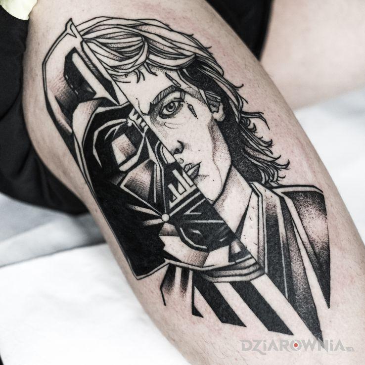 Tatuaż star wars  gwiezdne wojny  anakin skywalker  darth vader - postacie