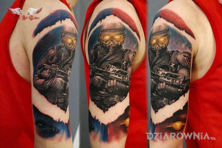 Tatuaż kolorowy - kolorowe