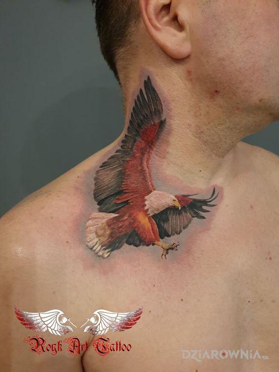 Tatuaż orzeł - kolorowe