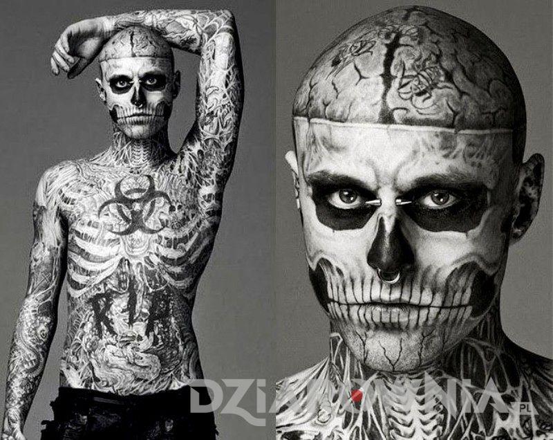zombie boy tatuaże