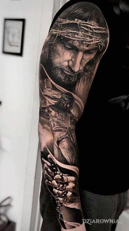 Tatuaż jezus chrystus - 3D