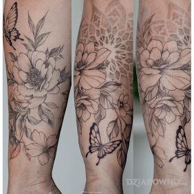 Kwiaty i motyle