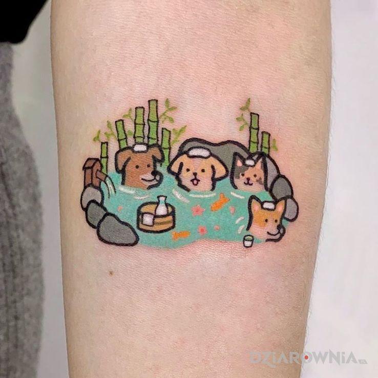 Tatuaż psia impreza xd - graficzne / ilustracyjne