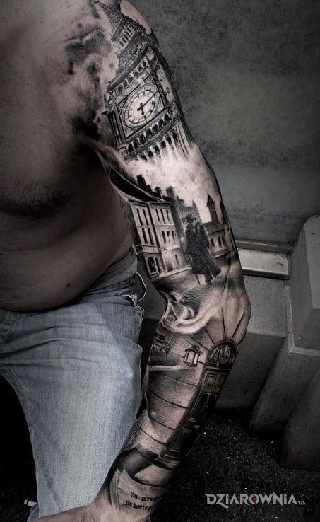 Tatuaż londyn - rękawy