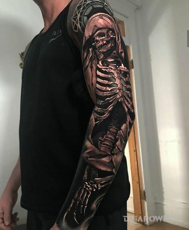 Tatuaż kostucha - 3D