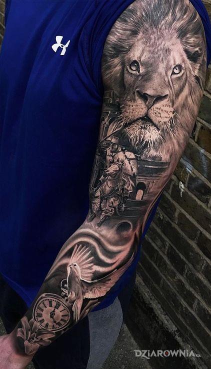 Tatuaż lion - zwierzęta