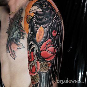 Kruk / Ptak / Róże / Neotraditional