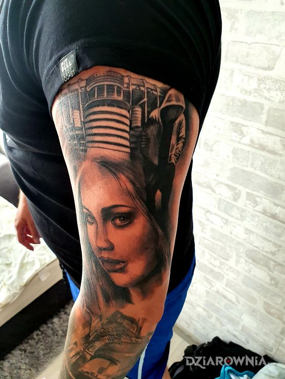 Tatuaż santiago - twarze