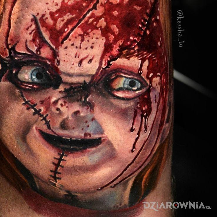 Tatuaż chucky - kolorowe