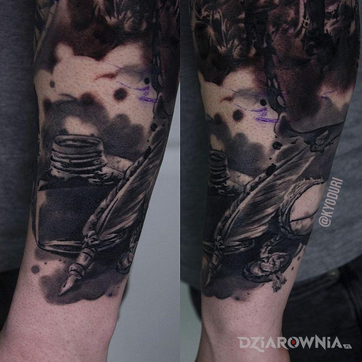 Tatuaż długopis i atrament - 3D