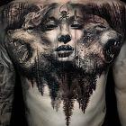 Kobieta z wilkami