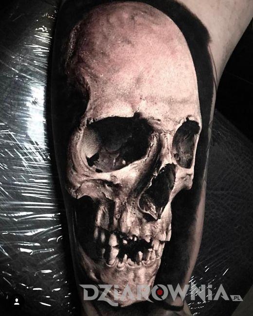 Tatuaż czaszki 3D